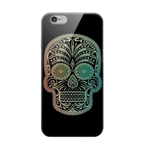 Geeks Designer Line (GDL) Apple iPhone 6 Matte Hard Back Cover - Dia De Los Muertos Blue Red Fade