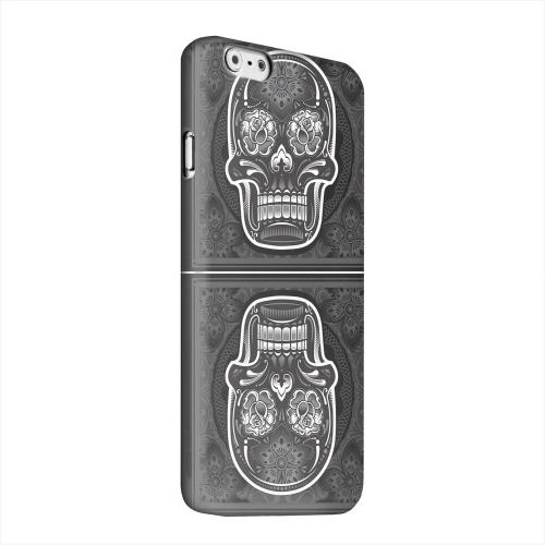 Geeks Designer Line (GDL) Apple iPhone 6 Matte Hard Back Cover - Domino Double Skull