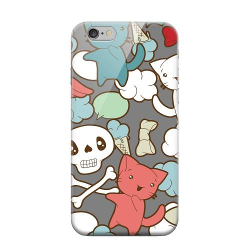 Geeks Designer Line (GDL) Apple iPhone 6 Matte Hard Back Cover - Hello Neko Skull