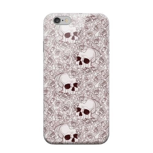 Geeks Designer Line (GDL) Apple iPhone 6 Matte Hard Back Cover - Thorn Skull Red Halftone