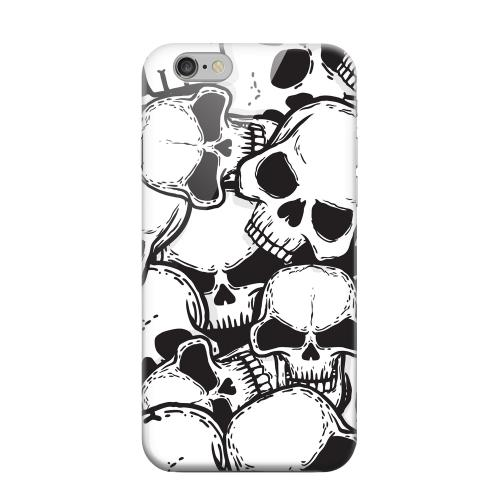 Geeks Designer Line (GDL) Apple iPhone 6 Matte Hard Back Cover - Doom Skulls