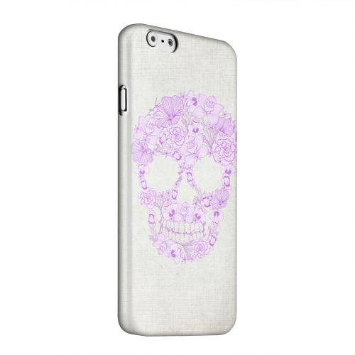 Geeks Designer Line (GDL) Apple iPhone 6 Matte Hard Back Cover - Floral Violet Skull on Canvas