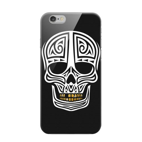 Geeks Designer Line (GDL) Apple iPhone 6 Matte Hard Back Cover - Rapero Muerto on Dark Mesh Dot