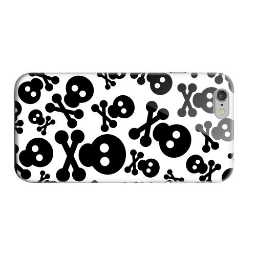 Geeks Designer Line (GDL) Apple iPhone 6 Matte Hard Back Cover - Skull Face Invasion Black on White