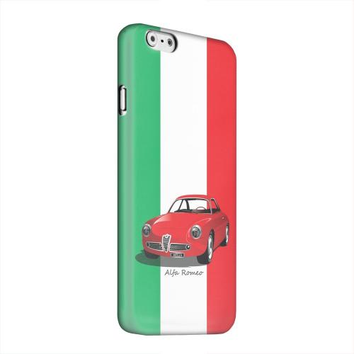 Geeks Designer Line (GDL) Apple iPhone 6 Matte Hard Back Cover - Red Alfa Romeo on Green/ White/ Red