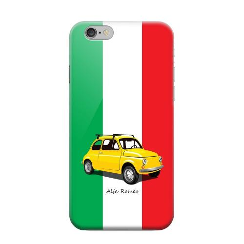 Geeks Designer Line (GDL) Apple iPhone 6 Matte Hard Back Cover - Yellow Alfa Romeo on Green/ White/ Red