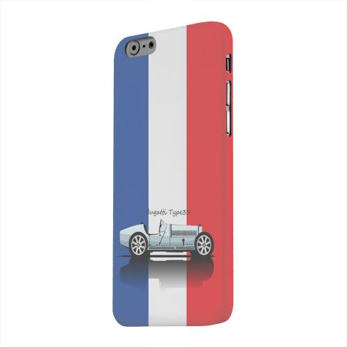 Geeks Designer Line (GDL) Apple iPhone 6 Matte Hard Back Cover - Bugatti Type 35S on Blue/ White/ Red
