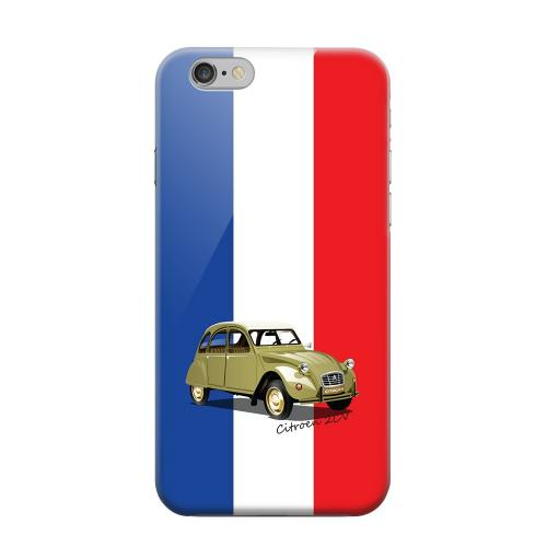 Geeks Designer Line (GDL) Apple iPhone 6 Matte Hard Back Cover - Citroen 2CV on Blue/ White/ Red