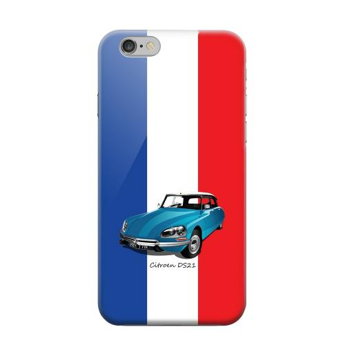 Geeks Designer Line (GDL) Apple iPhone 6 Matte Hard Back Cover - Citroen DS21 on Blue/ White/ Red