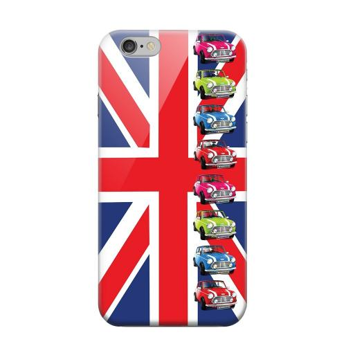 Geeks Designer Line (GDL) Apple iPhone 6 Matte Hard Back Cover - Multi Mini Coopers on Union Jack