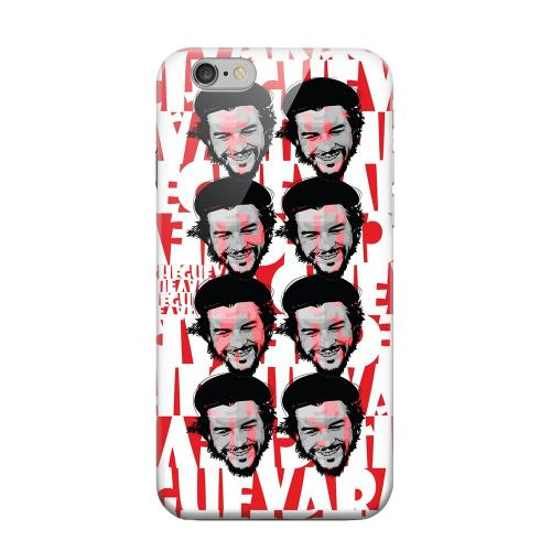 Geeks Designer Line (GDL) Apple iPhone 6 Matte Hard Back Cover - Che Guevara Happy Revolutionary Multi-Face on Red