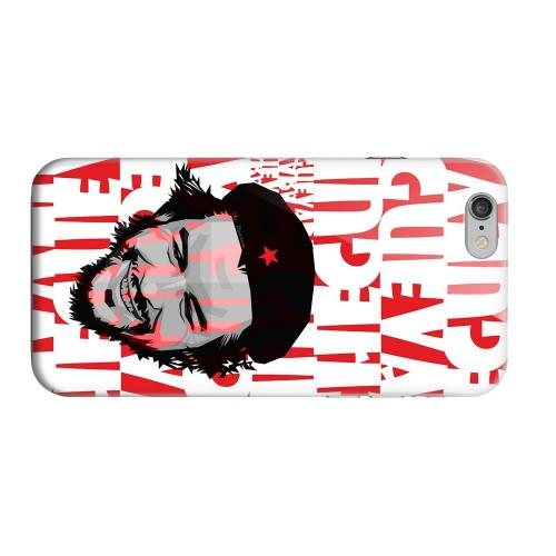 Geeks Designer Line (GDL) Apple iPhone 6 Matte Hard Back Cover - Che Guevara Happy Revolutionary on Red