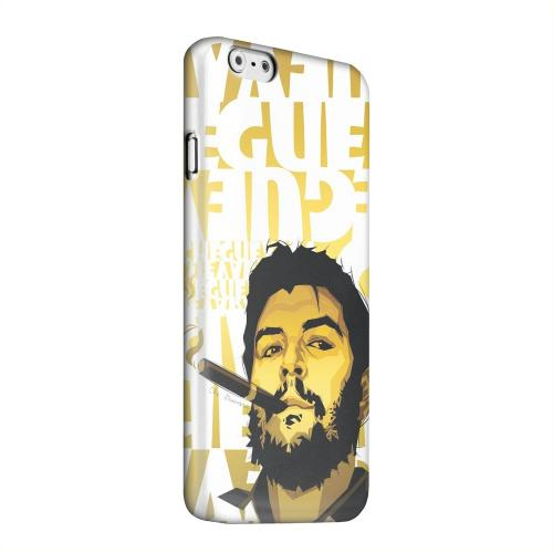 Geeks Designer Line (GDL) Apple iPhone 6 Matte Hard Back Cover - Che Guevara Smoke White Letters on Gold