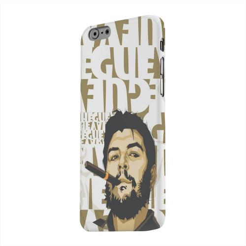Geeks Designer Line (GDL) Apple iPhone 6 Matte Hard Back Cover - Che Guevara Smoke White Letters