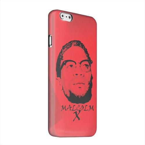 Geeks Designer Line (GDL) Apple iPhone 6 Matte Hard Back Cover - Malcolm X in the Middle on Red
