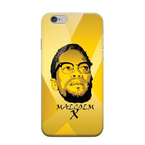 Geeks Designer Line (GDL) Apple iPhone 6 Matte Hard Back Cover - Malcolm X in the Middle on Yellow