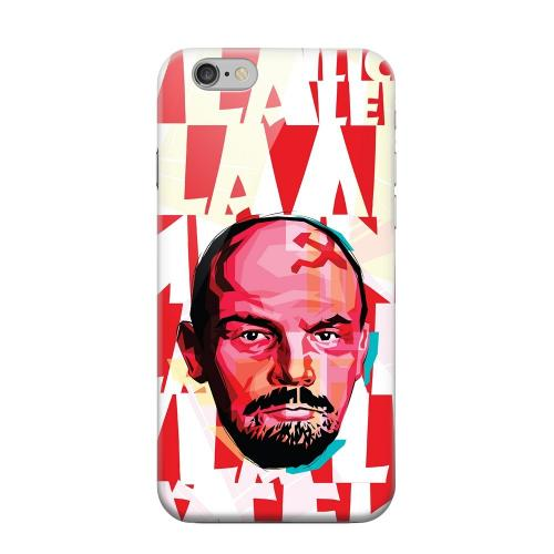 Geeks Designer Line (GDL) Apple iPhone 6 Matte Hard Back Cover - Lenin Complex on Red