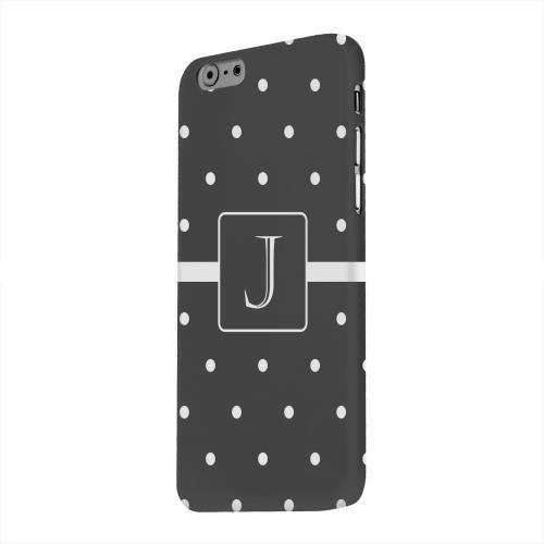 Geeks Designer Line (GDL) Apple iPhone 6 Matte Hard Back Cover - Monogram J on Classic Mini Polka Dots