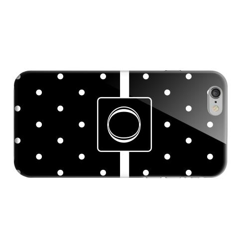 Geeks Designer Line (GDL) Apple iPhone 6 Matte Hard Back Cover - Monogram O on Classic Mini Polka Dots