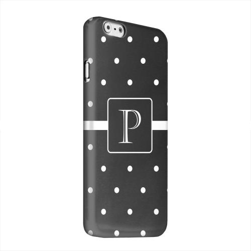 Geeks Designer Line (GDL) Apple iPhone 6 Matte Hard Back Cover - Monogram P on Classic Mini Polka Dots