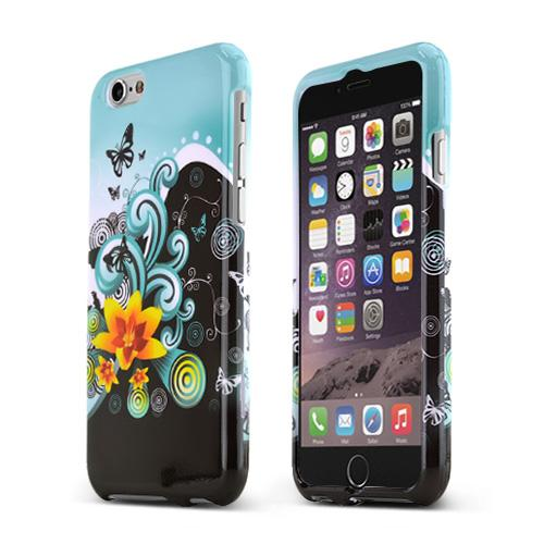 Apple iPhone 6/ 6S Case,  [Yellow Lily w/ Swirls]  Slim & Protective Crystal Glossy Snap-on Hard Polycarbonate Plastic Case Cover