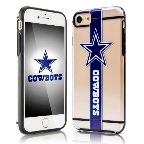 Apple iPhone 7 (4.7 inch) Sports Case, [Dallas Cowboys] Hydroclear Ultra-Slim 3D UV Printed Textued Hard Back Case w/ TPU Border