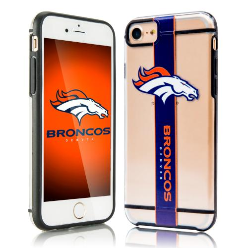 Apple iPhone 7 (4.7 inch) Sports Case, [Denver Broncos] Hydroclear Ultra-Slim 3D UV Printed Textued Hard Back Case w/ TPU Border