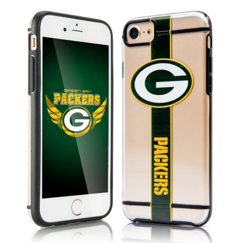 Apple iPhone 7 (4.7 inch) Sports Case, [Green Bay Packers] Hydroclear Ultra-Slim 3D UV Printed Textued Hard Back Case w/ TPU Border