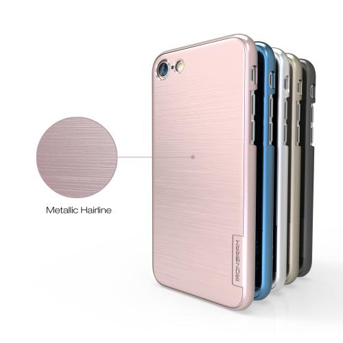 [Apple iPhone 7] (4.7 inch) Case, IRONGRAM [Premium Series] Super Slim Fit Thin, Shock Resistant PC Metallic Brushed Hard Case [Rose Gold]