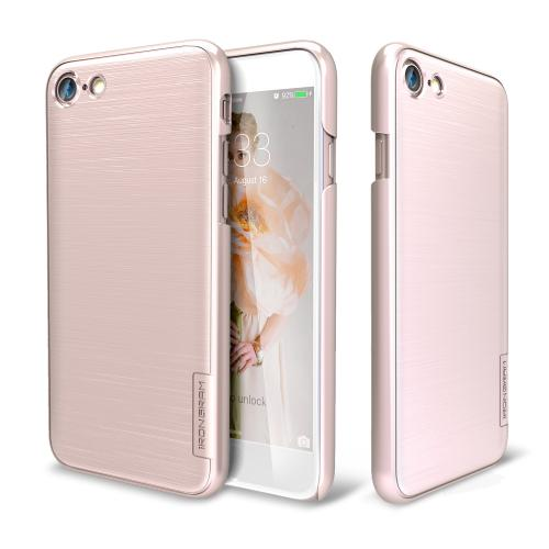 Apple iPhone 7 (4.7 inch) Case, IRONGRAM [Premium Series] Super Slim Fit Thin, Shock Resistant PC Metallic Brushed Hard Case [Rose Gold]