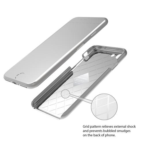 [Apple iPhone 7] (4.7 inch) Case, IRONGRAM [Premium Series] Super Slim Fit Thin, Shock Resistant PC Metallic Brushed Hard Case [Silver]
