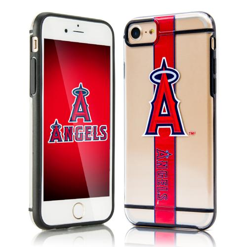 Apple iPhone 7 (4.7 inch) Sports Case, [Los Angeles Angels] Hydroclear Ultra-Slim 3D UV Printed Textued Hard Back Case w/ TPU Border