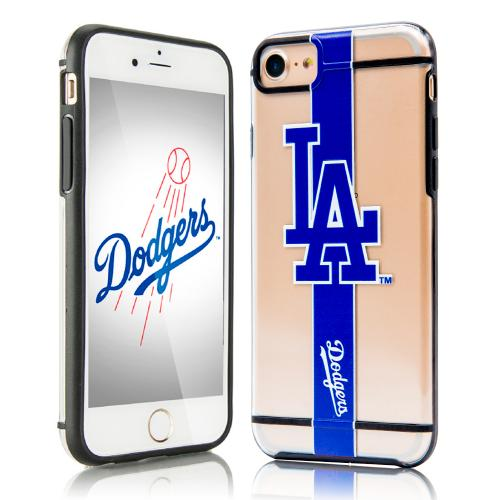 Apple iPhone 7 (4.7 inch) Sports Case, [Los Angeles Dodgers] Hydroclear Ultra-Slim 3D UV Printed Textued Hard Back Case w/ TPU Border