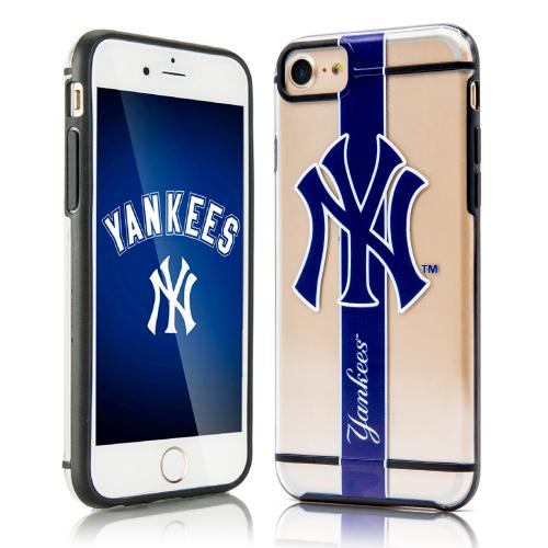 Apple iPhone 7 (4.7 inch) Sports Case, [New York Yankees] Hydroclear Ultra-Slim 3D UV Printed Textued Hard Back Case w/ TPU Border