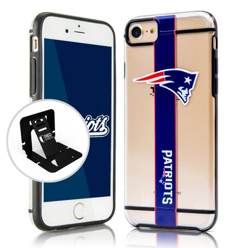 Apple iPhone 7 (4.7 inch) Sports Case, [New England Patriots] Hydroclear Ultra-Slim 3D UV Printed Textued Hard Back Case w/ TPU Border