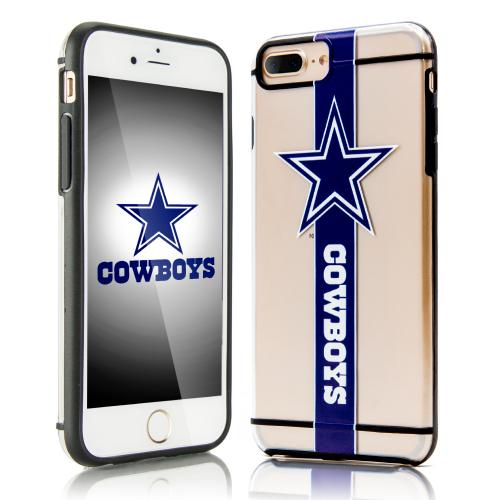 Apple iPhone 7 Plus (5.5 inch) Sports Case, [Dallas Cowboys] Hydroclear Ultra-Slim 3D UV Printed Textued Hard Back Case w/ TPU Border