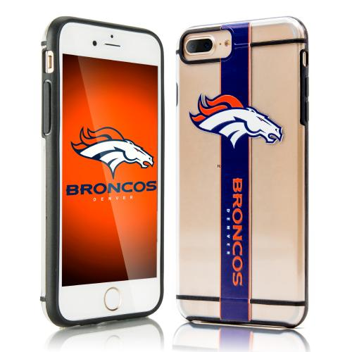 Apple iPhone 7 Plus (5.5 inch) Sports Case, [Denver Broncos] Hydroclear Ultra-Slim 3D UV Printed Textued Hard Back Case w/ TPU Border
