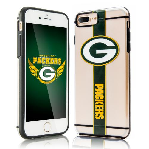 Apple iPhone 7 Plus (5.5 inch) Sports Case, [Green Bay Packers] Hydroclear Ultra-Slim 3D UV Printed Textued Hard Back Case w/ TPU Border