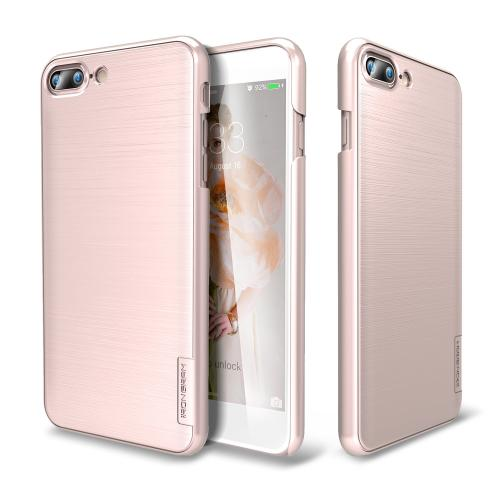 [Apple iPhone 7 Plus] (5.5 inch) Case, IRONGRAM [Premium Series] Super Slim Fit Thin, Shock Resistant PC Metallic Brushed Hard Case [Rose Gold]