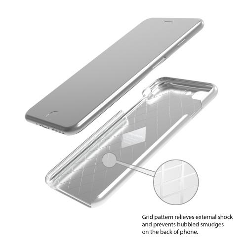 [Apple iPhone 7 Plus] (5.5 inch) Case, IRONGRAM [Premium Series] Super Slim Fit Thin, Shock Resistant PC Metallic Brushed Hard Case [Silver]