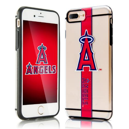 Apple iPhone 7 Plus (5.5 inch) Sports Case, [Los Angeles Angels] Hydroclear Ultra-Slim 3D UV Printed Textued Hard Back Case w/ TPU Border
