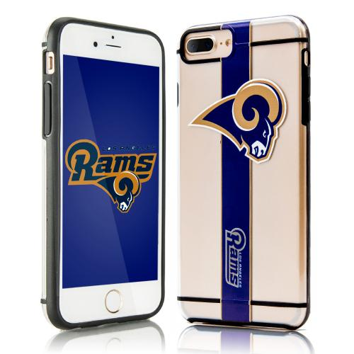 Apple iPhone 7 Plus (5.5 inch) Sports Case, [Los Angeles Rams] Hydroclear Ultra-Slim 3D UV Printed Textued Hard Back Case w/ TPU Border