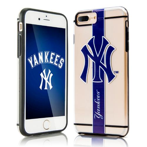 Apple iPhone 7 Plus (5.5 inch) Sports Case, [New York Yankees] Hydroclear Ultra-Slim 3D UV Printed Textued Hard Back Case w/ TPU Border