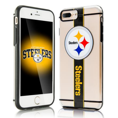 Apple iPhone 7 Plus (5.5 inch) Sports Case, [Pittsburgh Steelers] Hydroclear Ultra-Slim 3D UV Printed Textued Hard Back Case w/ TPU Border