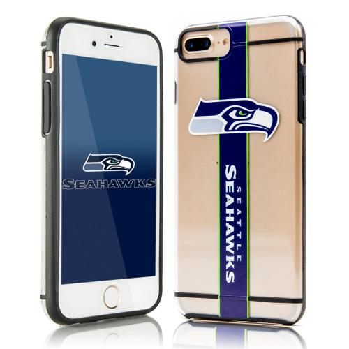 Apple iPhone 7 Plus (5.5 inch) Sports Case, [Seattle Seahawks] Hydroclear Ultra-Slim 3D UV Printed Textued Hard Back Case w/ TPU Border