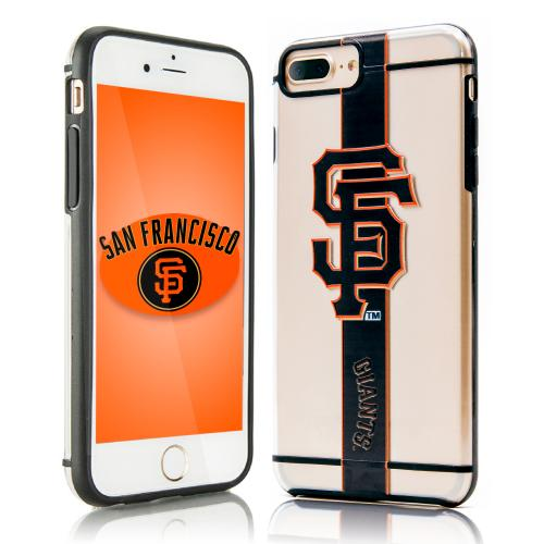 Apple iPhone 7 Plus (5.5 inch) Sports Case, [San Francisco Giants] Hydroclear Ultra-Slim 3D UV Printed Textued Hard Back Case w/ TPU Border