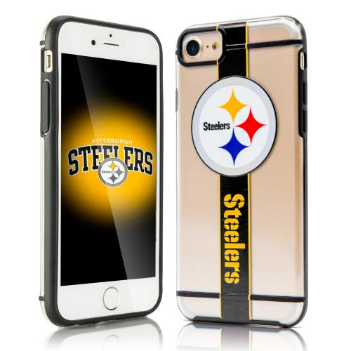 Apple iPhone 7 (4.7 inch) Sports Case, [Pittsburgh Steelers] Hydroclear Ultra-Slim 3D UV Printed Textued Hard Back Case w/ TPU Border