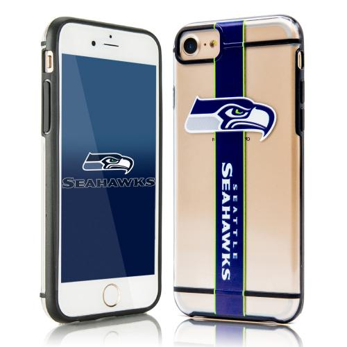 Apple iPhone 7 (4.7 inch) Sports Case, [Seattle Seahawks] Hydroclear Ultra-Slim 3D UV Printed Textued Hard Back Case w/ TPU Border