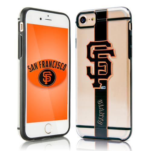 Apple iPhone 7 (4.7 inch) Sports Case, [San Francisco Giants] Hydroclear Ultra-Slim 3D UV Printed Textued Hard Back Case w/ TPU Border