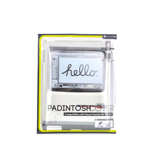 Thumbs Up! Gray/ White Padintosh Retro Computer Hard Case for Apple iPad 2/3/4